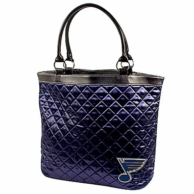St Louis Blues Quilted Tote