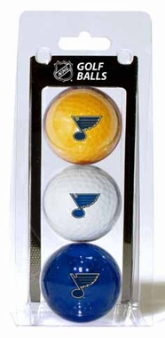 St Louis Blues Set of 3 Multicolor Golf Balls