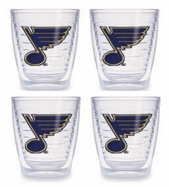 St Louis Blues Set of FOUR 12 oz. Tervis Tumblers