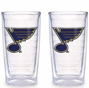St Louis Blues Set of TWO 16 oz. Tervis Tumblers