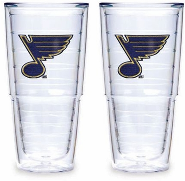 "St Louis Blues Set of TWO 24 oz. ""Big T"" Tervis Tumblers"