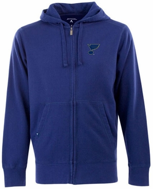 St Louis Blues Mens Signature Full Zip Hooded Sweatshirt (Team Color: Royal)