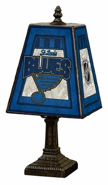 St Louis Blues Small Art Glass Lamp