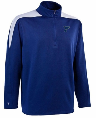 St Louis Blues Mens Succeed 1/4 Zip Performance Pullover (Team Color: Royal)
