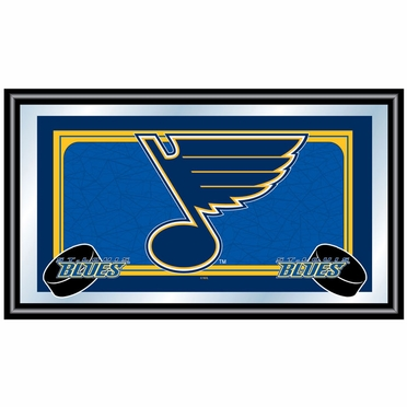 St Louis Blues Team Logo Bar Mirror