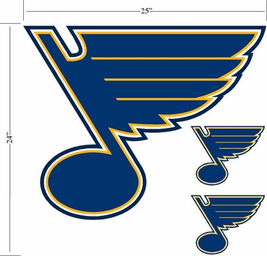St Louis Blues Wallmarx Large Wall Decal