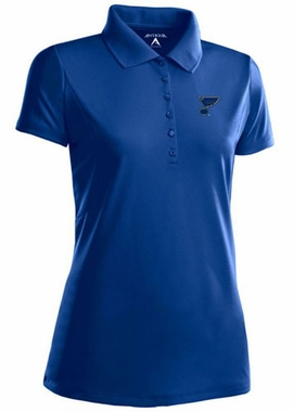 St Louis Blues Womens Pique Xtra Lite Polo Shirt (Color: Royal)