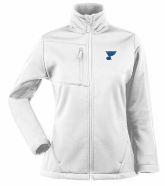 St Louis Blues Womens Traverse Jacket (Color: White)