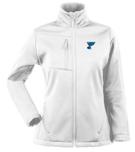 St Louis Blues Womens Traverse Jacket (Color: White) - X-Large