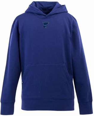 St Louis Blues YOUTH Boys Signature Hooded Sweatshirt (Team Color: Royal)