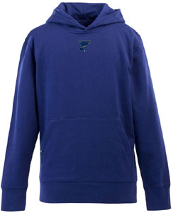 St Louis Blues YOUTH Boys Signature Hooded Sweatshirt (Team Color: Royal) - Large