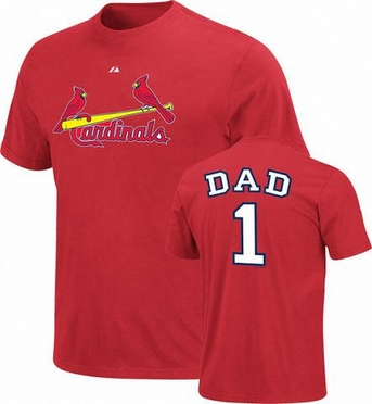 St Louis Cardinals #1 Dad T-Shirt