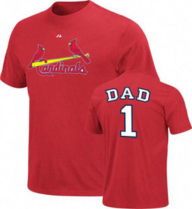 St Louis Cardinals #1 Dad T-Shirt - X-Large