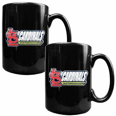 St Louis Cardinals 2 Piece Coffee Mug Set (Wordmark)