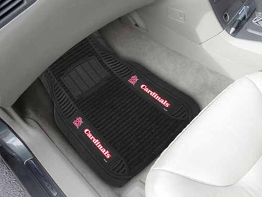 St Louis Cardinals 2 Piece Heavy Duty DELUXE Vinyl Car Mats