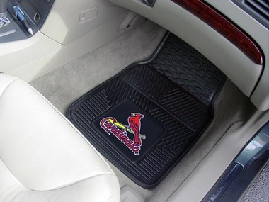 St Louis Cardinals 2 Piece Heavy Duty Vinyl Car Mats