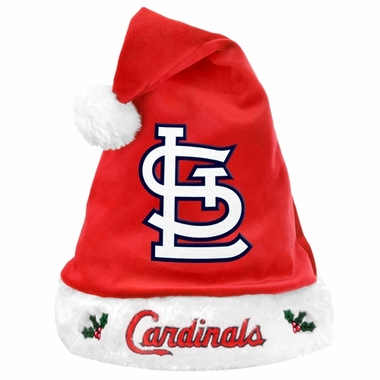St. Louis Cardinals 2012 Team Logo Plush Santa Hat