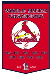 "St Louis Cardinals 24""x36"" Dynasty Wool Banner"