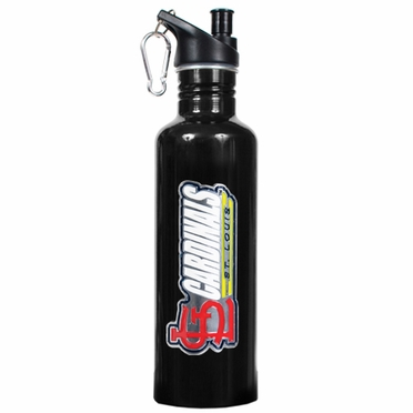 St Louis Cardinals 26oz Stainless Steel Water Bottle (Black)
