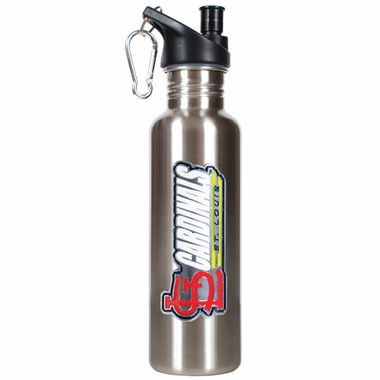 St Louis Cardinals 26oz Stainless Steel Water Bottle (Silver)