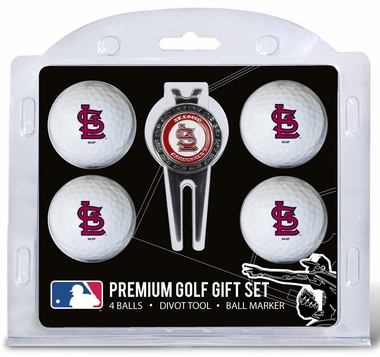 St Louis Cardinals 4 Ball and Divot Tool Set