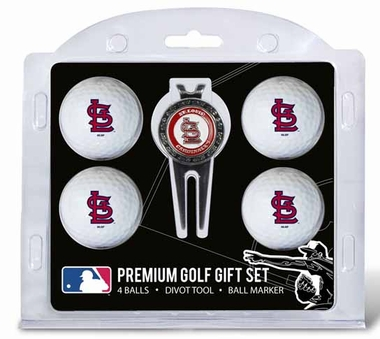 St Louis Cardinals 4 Ball and Tool Gift Set