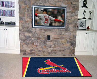 St Louis Cardinals 4 Foot x 6 Foot Rug
