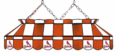 St Louis Cardinals 40 Inch Rectangular Stained Glass Billiard Light