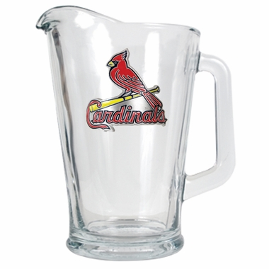 St Louis Cardinals 60 oz Glass Pitcher
