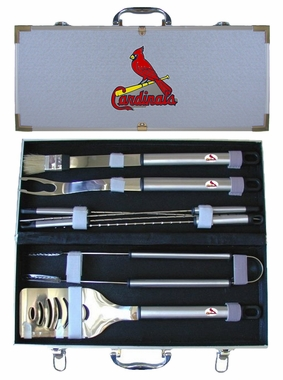 St Louis Cardinals 8pc. BBQ Set w/Case