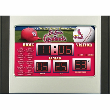 St Louis Cardinals Alarm Clock Desk Scoreboard