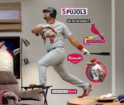 St Louis Cardinals Albert Pujols Fathead Wall Graphic