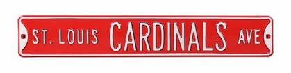 St. Louis Cardinals Ave Red Street Sign
