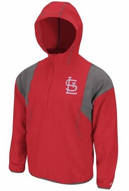 St Louis Cardinals Barracuda 1/2 Zip Water Resistant Jacket