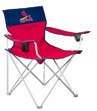 St Louis Cardinals Big Boy Adult Folding Logo Chair
