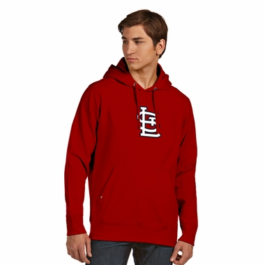 St Louis Cardinals Big Logo Mens Signature Hooded Sweatshirt (Team Color: Red)