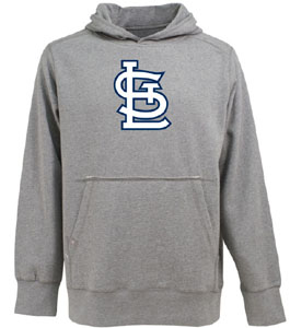 St Louis Cardinals Big Logo Mens Signature Hooded Sweatshirt (Color: Gray) - X-Large