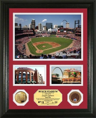 "St. Louis Cardinals Busch Stadium Infield Dirt Coin ""Showcase"" Photo Mint"
