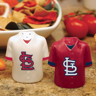 St Louis Cardinals Ceramic Jersey Salt and Pepper Shakers