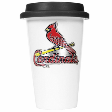 St Louis Cardinals Ceramic Travel Cup (Black Lid)