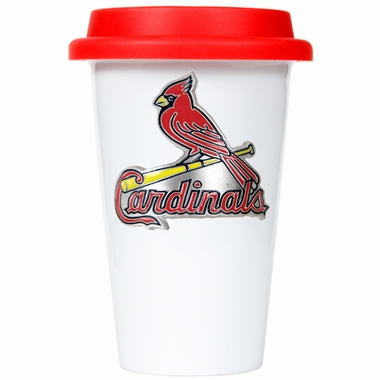 St Louis Cardinals Ceramic Travel Cup (Team Color Lid)