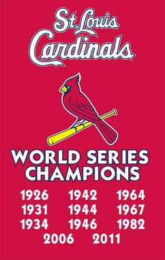 St Louis Cardinals Champs Applique Banner Flag