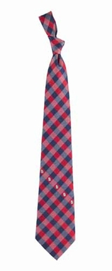St Louis Cardinals Check Poly Necktie