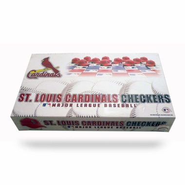 St Louis Cardinals Checkers Set