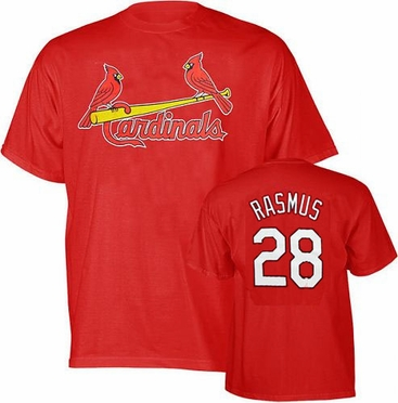 St Louis Cardinals Colby Rasmus Name and Number T-Shirt
