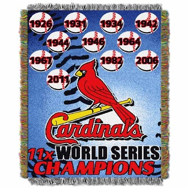 St Louis Cardinals Commerative Jacquard Woven Blanket