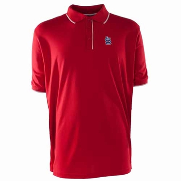 St Louis Cardinals Mens Elite Polo Shirt (Team Color: Red)