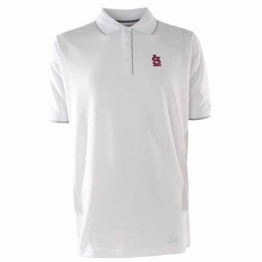 St Louis Cardinals Mens Elite Polo Shirt (Color: White)