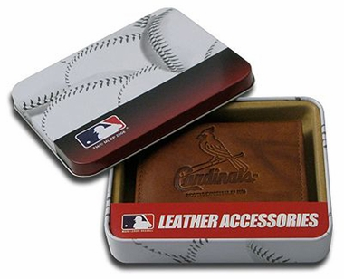 St Louis Cardinals Embossed Leather Bifold Wallet