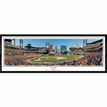 St Louis Cardinals First Pitch Framed Panoramic Print